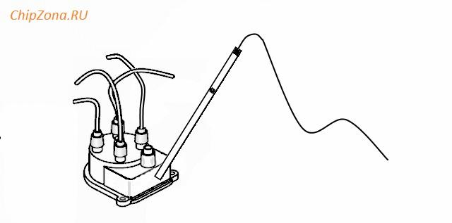 система зажигания с катушкой в распределителе HEI